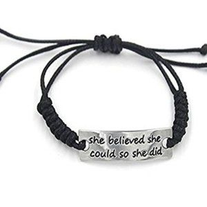 Inspirational Rope Bracelet